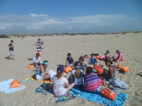 Tiempo en la playa